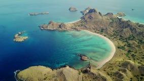 Padar海岛空中风景有蓝色海的 影视素材