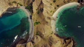 Padar海岛顶视图英尺长度  股票视频