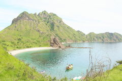 Padar海岛,弗洛勒斯 免版税库存图片