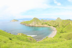 Padar海岛,弗洛勒斯 库存照片