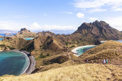 PADAR海岛,科莫多国家公园,印度尼西亚 免版税库存照片