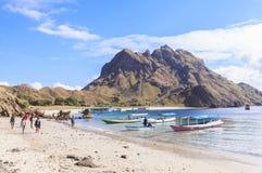 PADAR海岛,科莫多国家公园,印度尼西亚 免版税库存图片