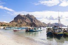 PADAR海岛,科莫多国家公园,印度尼西亚 图库摄影