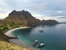 Padar ö i den Komodo nationalparken, Indonesien Fotografering för Bildbyråer