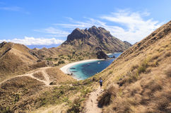 PADAR-Ö, Komodo nationalpark, Indonesien Royaltyfri Bild