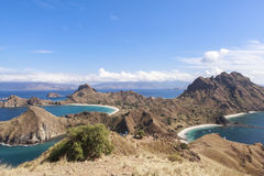 PADAR-INSEL, Nationalpark Komodo, Indonesien stockfotografie