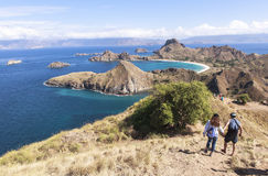 PADAR-INSEL, Nationalpark Komodo, Indonesien stockbild