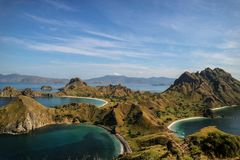 Padar Island a Beautiful Hill royalty free stock photo