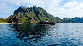Padar Island Look From the Sea Royalty Free Stock Photography