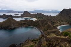 Padar wyspa w Labuan Bajo, Flores Indonezja Fotografia Stock