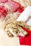 Padaria alemão tradicional: O Natal de Dresden stollen Fotografia de Stock Royalty Free