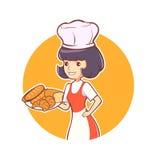 Padaria do cozinheiro chefe da mulher Imagens de Stock