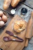 Padaria do croissant Fotos de Stock