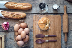 Padaria do croissant Imagem de Stock