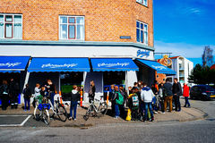 Padaria em Copenhaga Imagens de Stock Royalty Free