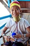 Padaung女孩,缅甸 免版税图库摄影