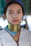 Padaung部落人,缅甸 免版税图库摄影