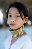 Padaung部落人,缅甸 免版税库存图片