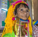 padaung γυναίκα φυλών πορτρέτο&upsilon Στοκ εικόνα με δικαίωμα ελεύθερης χρήσης