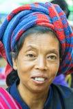 padaung γυναίκα φυλών πορτρέτο&upsilon Στοκ εικόνες με δικαίωμα ελεύθερης χρήσης