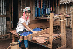 Padaung (卡伦)从平底锅宠物villag的小山部落地道生活  库存图片