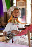 The Padaung-Karen long-necked tribe woman Stock Photo