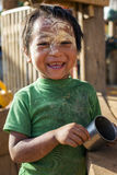 Padaung Tribe Child, Myanmar. Stock Images