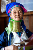 Padaung tribe woman, Myanmar Stock Images
