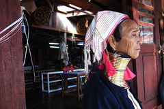 Padaung woman from Kayar,Myanmar Stock Images