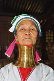 A padaung woman from the provinces Kayar Royalty Free Stock Photo