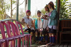 Padaung women from Myanmar Stock Images