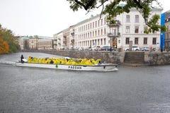 Paddan观光的小船 免版税库存图片
