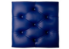 Padded blue leather board Royalty Free Stock Photos