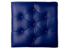 Padded blue leather board with folds Royalty Free Stock Image
