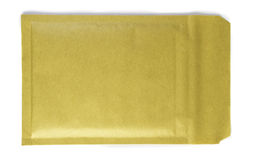 Padded brown envelope isolated on white.  Royalty Free Stock Image