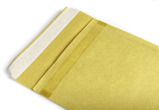 Padded brown envelope isolated on white Royalty Free Stock Photos