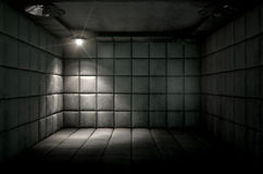 Padded Cell Dirty Spotlight Royalty Free Stock Image