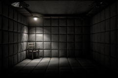 Padded Cell And Empty Chair Stock Photography