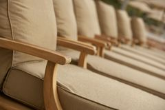 Padded Deck Chairs Stock Image