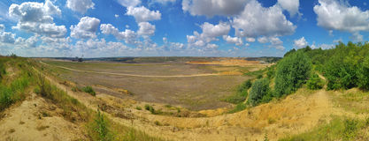 Padded opencast Royalty Free Stock Photo