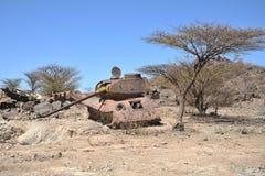 Padded tanks. At the city of Boramo. Somalia Stock Photo