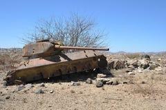 Padded tanks. At the city of Boramo. Somalia Royalty Free Stock Images