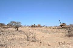 Padded tanks. At the city of Boramo. Somalia Stock Photography
