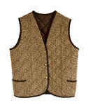 Padded waistcoat with button Royalty Free Stock Photography