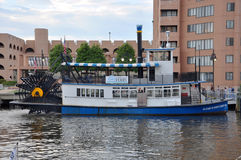 Paddel-Rad-Boot in Norfolk, Virginia stockbild