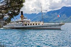 Paddelboat de Suisse de La Photos libres de droits