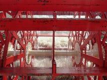 Paddeldampferschaufelrad Stockfoto
