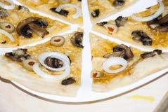 Paddestoelpizza Royalty-vrije Stock Foto