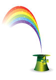 Paddies hat with rainbow Royalty Free Stock Photos