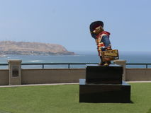 Paddington Bear in Salazar park of Miraflores district Stock Images